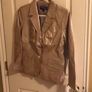 New Chadwick's leather gold blazer